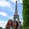 Kat and Clara at the Eiffel Tower
