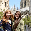 Kat and Clara at Rouen Cathedral