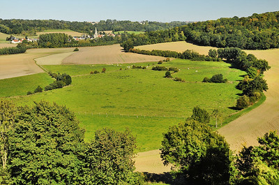 Le paysage près de Coucy-le-Château
