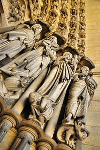 Laon - Cathédrale Notre-Dame - Détail du portail