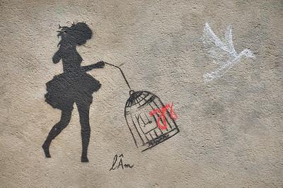 Moulins - Graffiti dans la rue Pierre Petit