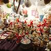 Christmas decorations for sale at the Eguisheim Marché de Noël