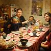 Family dinner at Melanie's parents home in Vendenheim