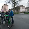 Riding through Kehl, Germany