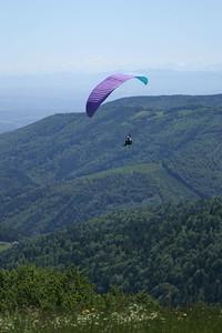 Paraglider over Le Ballon d'Alsace
