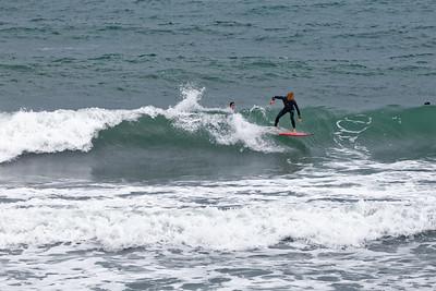 Biarritz, surfeur sur la Côte des Basques