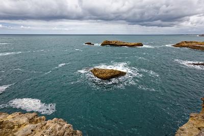 Biarritz, digue de Gamaritz