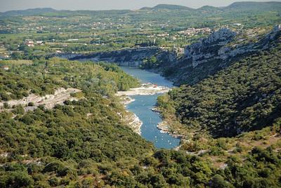 Gorges de l'Ardèche - Sortie des gorges vers Aiguèze