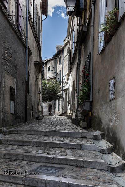 Cobblestone Stairs & Walkway