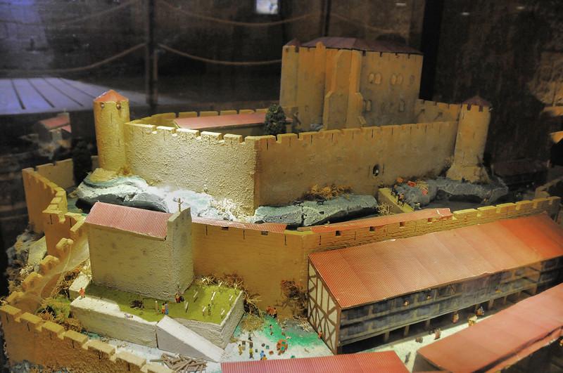 Château de Puivert - Maquette du château original
