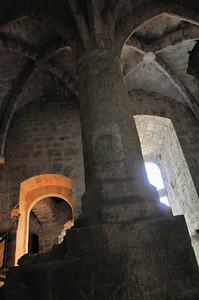 Château de Quéribus - Salle du Pilier