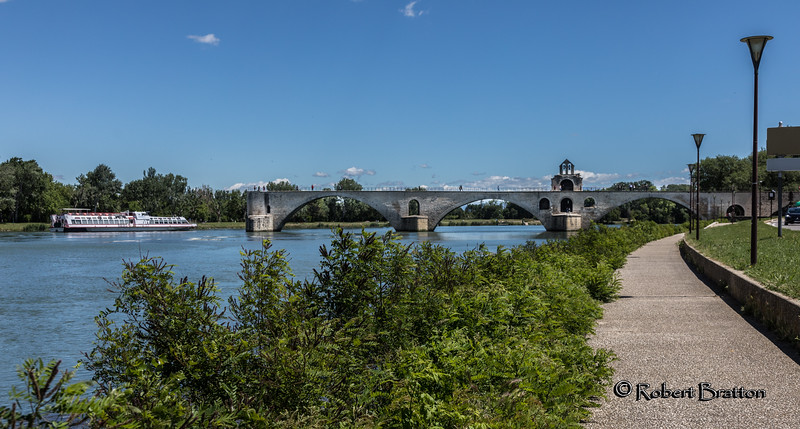 """Pont St. Benezet - Subject of Children's Song """"""""Sur le Pont d'Avignon"""""""