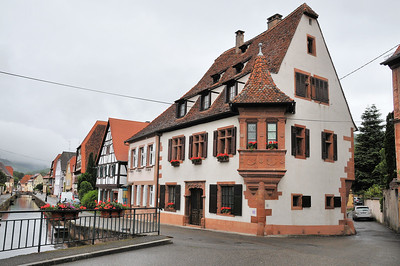 Wissembourg - Canal de la Lauter et maison de l'Ami Fritz (1550)