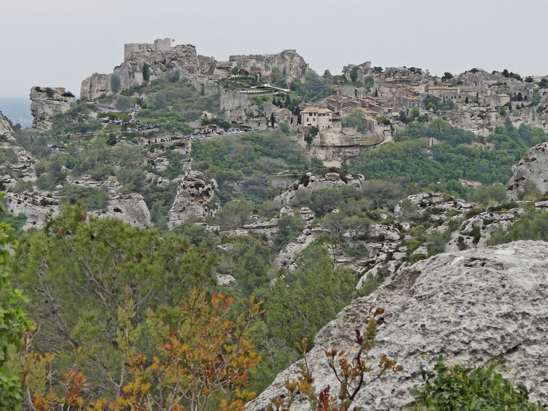 overlooking the baux-de-provence from the Val d'Enfer