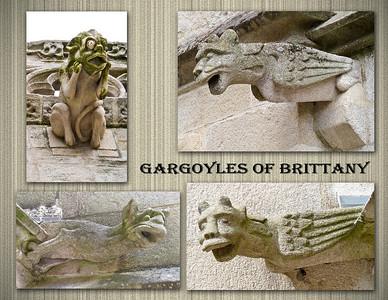 Gargoyles of St. Corentin Cathedral