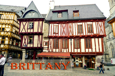 Timber framed building in Vannes