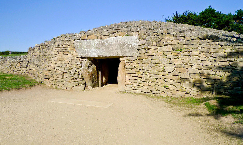 The Table des Marchands, a Neolithic galleried grave, at Locmariaquer