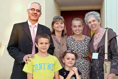 Joyce with the Christophe and Valerie Perrusel family in Rennes.