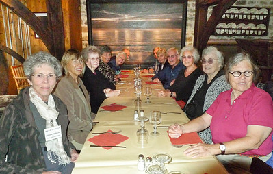 Road Scholar group having lunch in Pont Aven