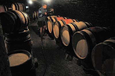 Le vin en gestation traditionnelle à Auxey-Duresses