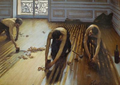 """""""Raboteurs de Parquet"""" (The Floor Planers) by Caillebotte, 1875"""