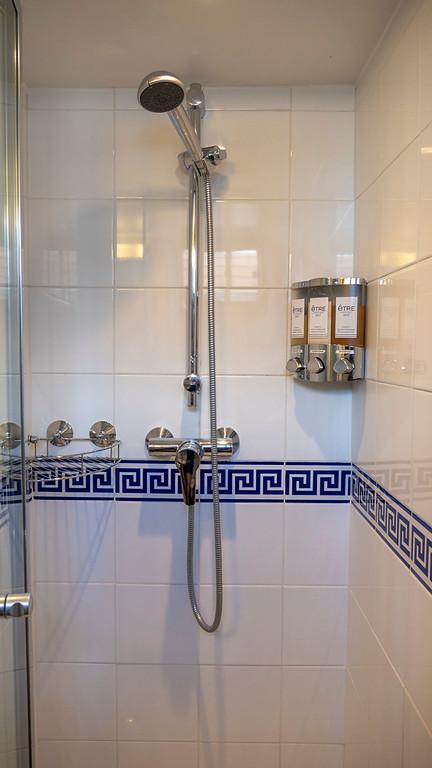 Shower in my bathroom cabin on the Athos du Midi