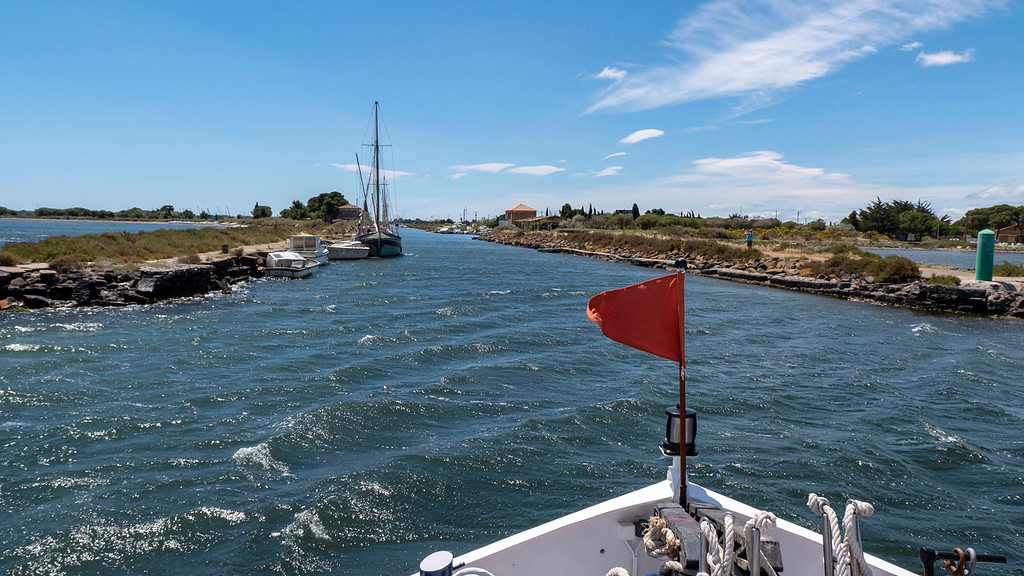Entering the Canal du Midi at Marseillan France