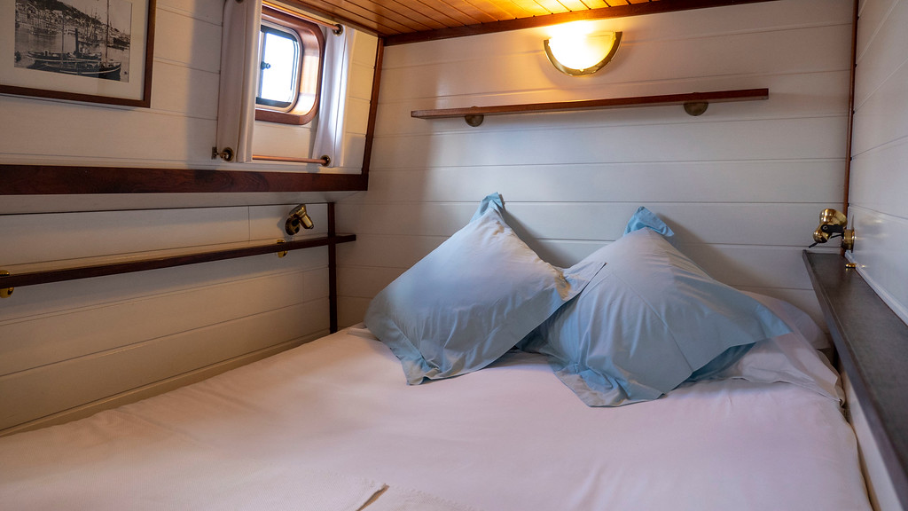 My cabin aboard the Athos barge - Canal du Midi barge cruise