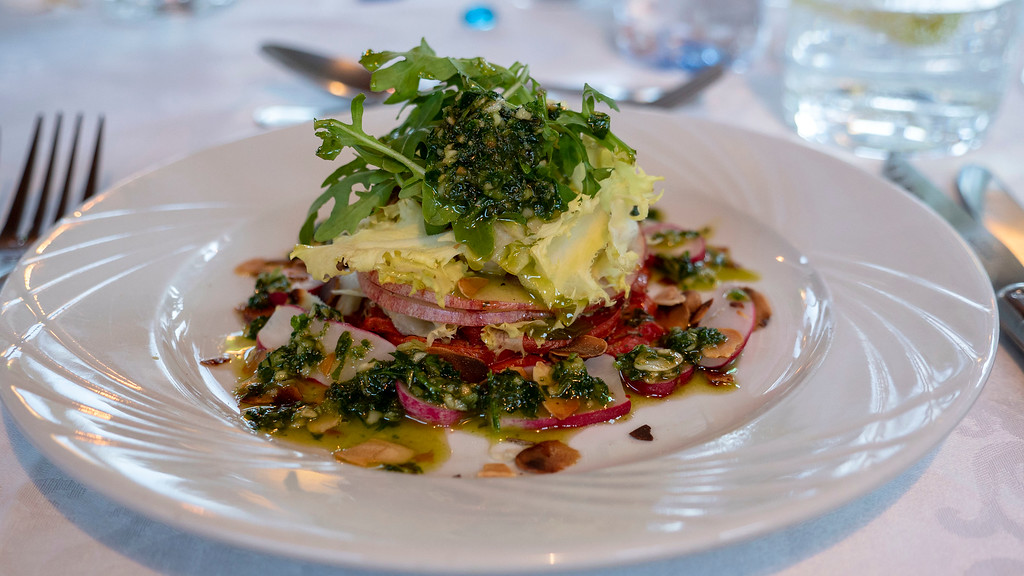 Vegan meals on the Athos du Midi luxury hotel barge in the South of France