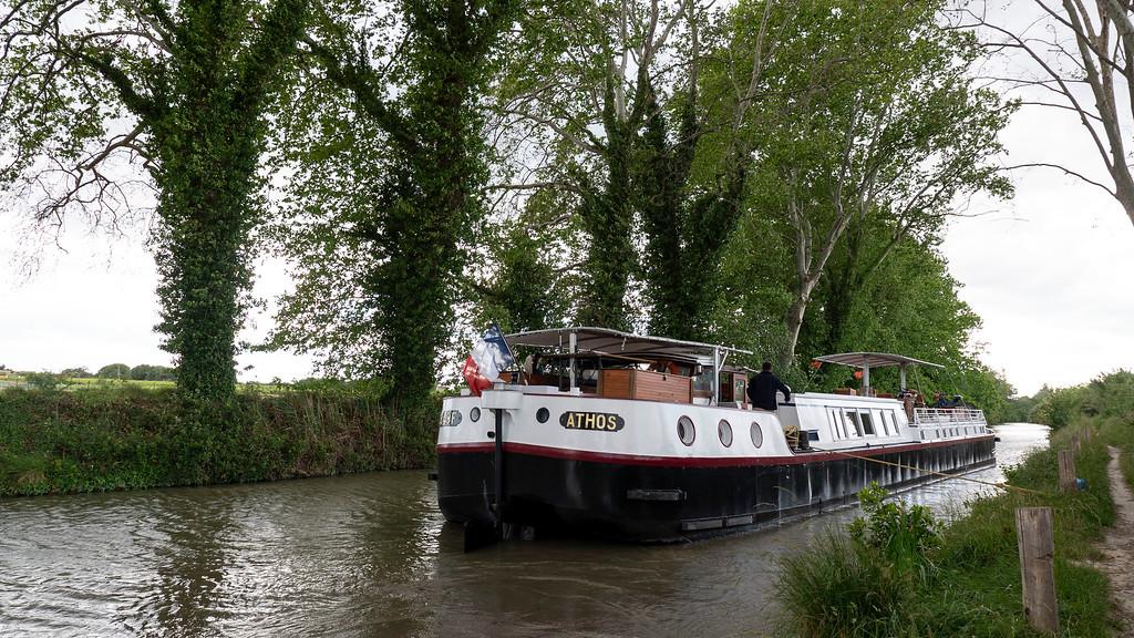 Athos du Midi docked on the Canal du Midi, France