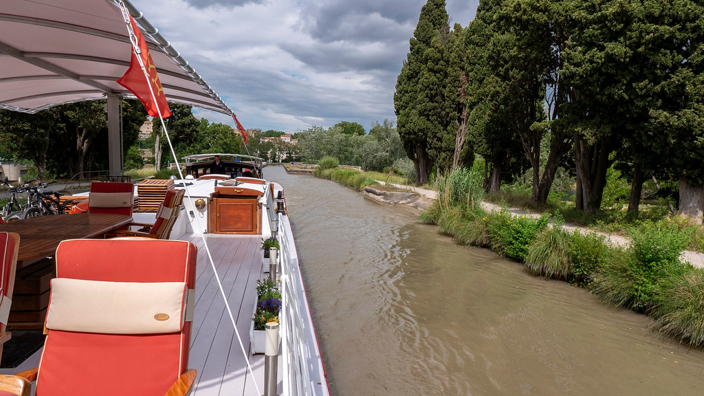 Athos barge cruise on the Canal du Midi, France