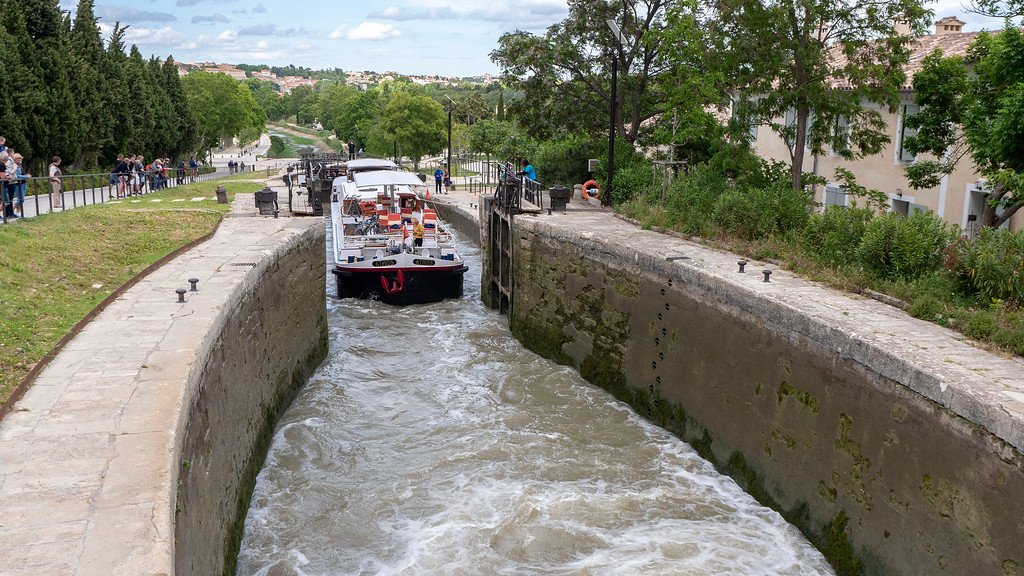 Athos du Midi - Fonserannes Locks on the Canal du Midi, South of France