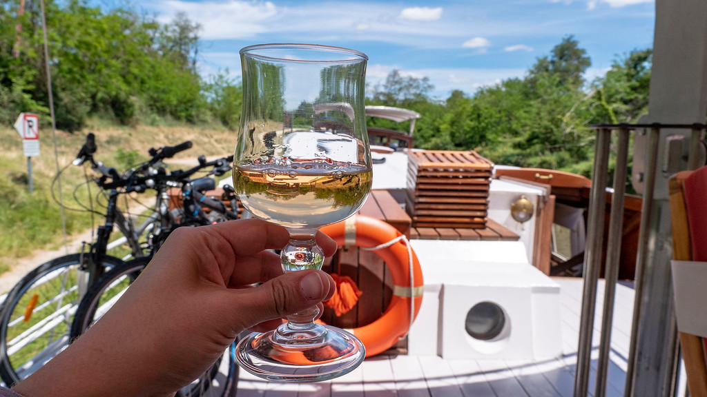 Wine from local wineries on the Athos du Midi