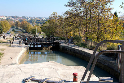 Beziers - The staircase of 8 locks at Fonsérannes