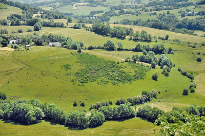 Le paysage à proximité de Saint-Bonnet-de-Condat