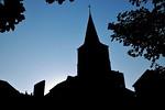 Allanche - Eglise Saint-Jean-Baptiste (avec un effet ombre chinoise)