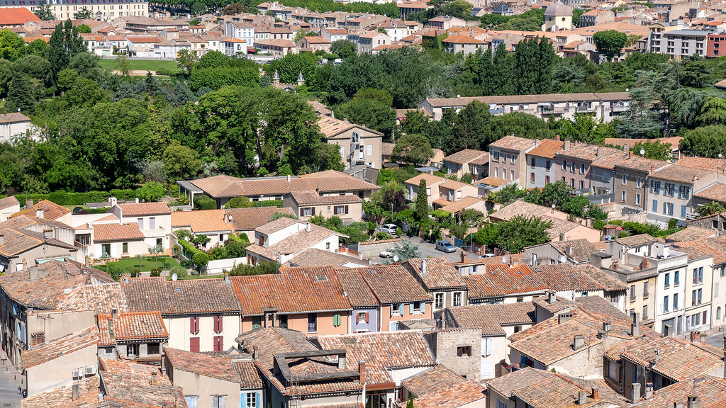 Cite de Carcassonne France - Views of Lower Town