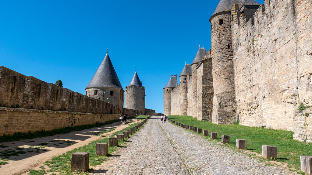 Fortified city of Carcassonne, France.
