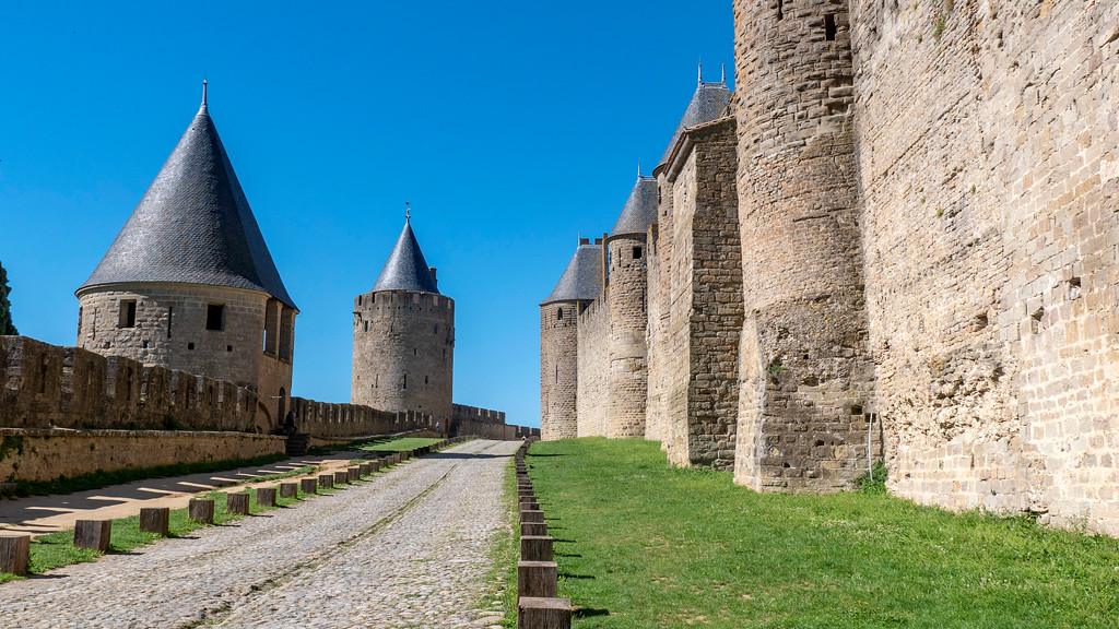The ramparts of Carcassonne - The city fortifications