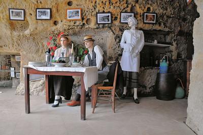 Meschers - Grottes du Régulus - Reconstitution du restaurant des Fontaines