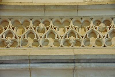 Bourges - Palais de Jacques Cœur - Chambre des études - Détail sculpté de la cheminée