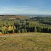 Panorama du mont Bessou - A l'horizon, les monts Dore, la chaîne du Sancy, les monts du Cantal