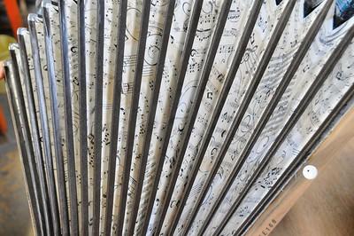 Tulle - Manufacture d'accordéons Maugein - Soufflet décoré
