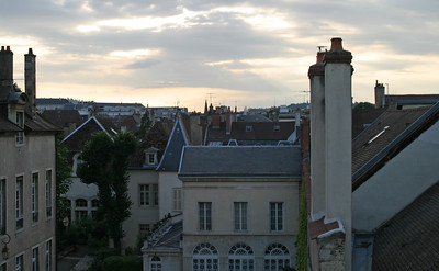 The rooftops of Dijon, from my room in the Hôtel Jacquemart.