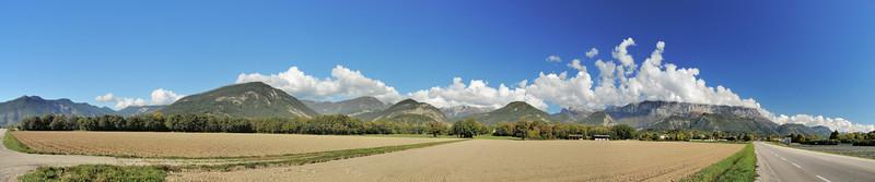 Panorama à l'ouest de Die