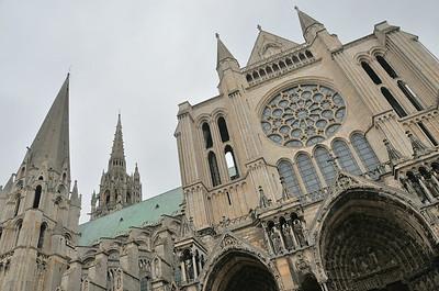 Chartres - Façade sud de la cathédrale
