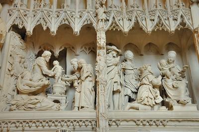 Chartres - Cathédrale - Sculptures de la clôture du chœur