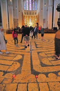 Chartres - Labyrinthe de la cathédrale