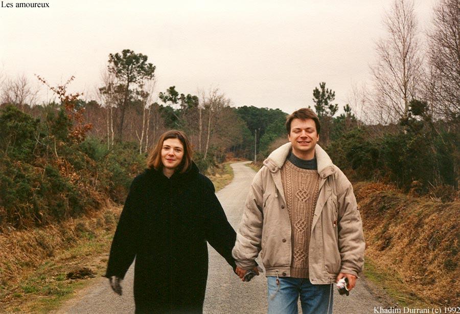 Les amoureux de printemps - a Carnac. Fev/mars 1992. Fev. ou mars c'est deja printemps pour mois!