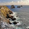 Pointe de Pen-Hir (Beg Penn Hir) avec les Tas de Pois en mer